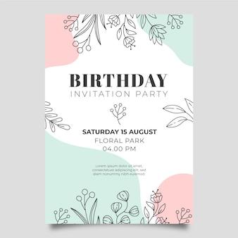 Invitation d'anniversaire