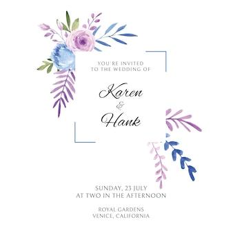 Invitation aquarelle