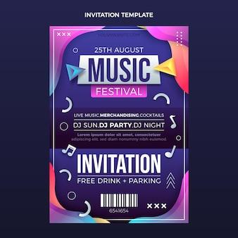 Invitation au festival de musique coloré dégradé