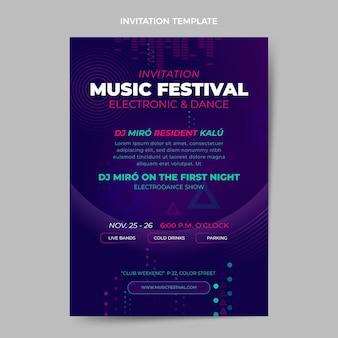 Invitation au festival de musique en demi-teinte dégradé