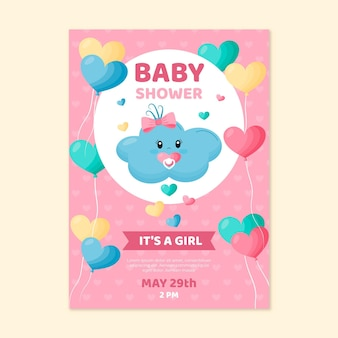 Invitation de baby shower de chuva de amor