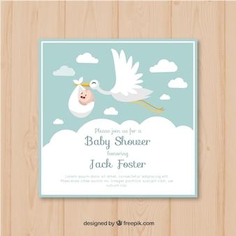 Invitation de carte de douche de bébé