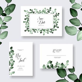 Invitation de carte de mariage