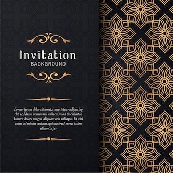 Invitation de carte de voeux avec ornements floraux