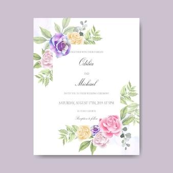 Invitation de cartes de mariage belle et élégante