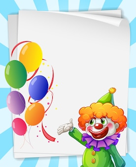 Invitation de clown