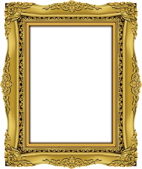 Invitation de conception de vecteur golden photo frame