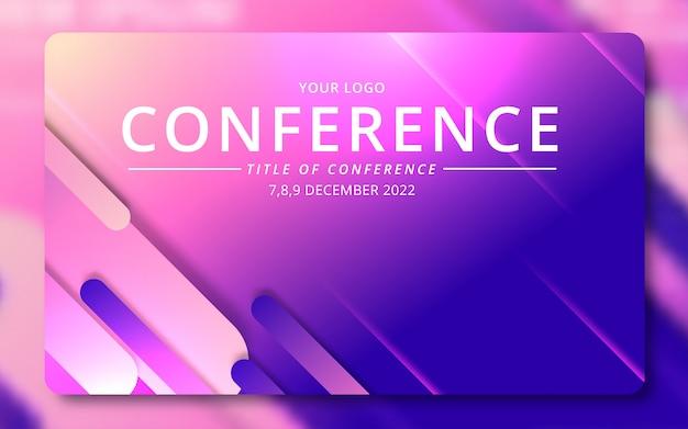 Invitation à une conférence d'affaires