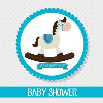 Invitation de douche de bébé conception de carte de visite