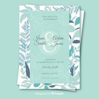 Invitation de mariage avec des éléments floraux