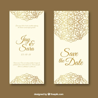 Invitation de mariage avec mandala