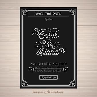 Invitation de mariage dans le style vintage