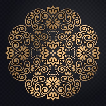 Invitation de mariage de luxe de vecteur avec mandala