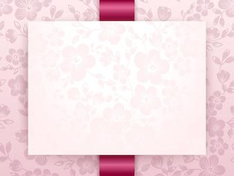 Invitation de mariage et carte d'annonce avec oeuvre d'art floral