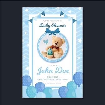 Invitation de douche de bébé avec photo