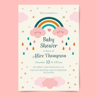 Invitation de douche de bébé plat chuva de amor