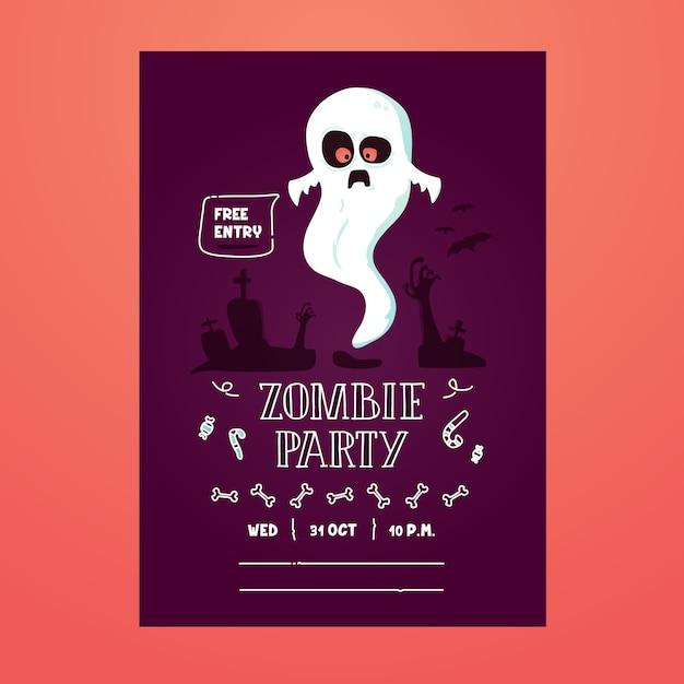 Invitation effrayante halloween