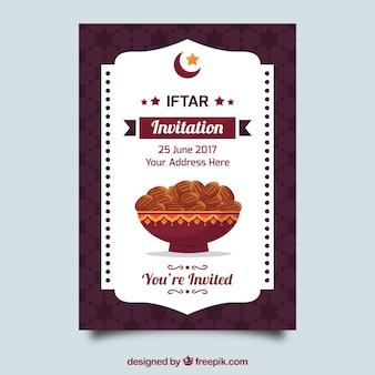 Invitation élégante iftar