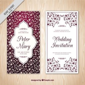 Invitation élégante de mariage de cru