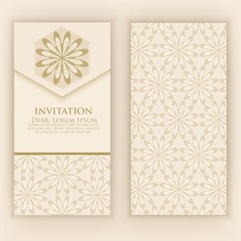 Invitation avec des éléments arabesques ethniques