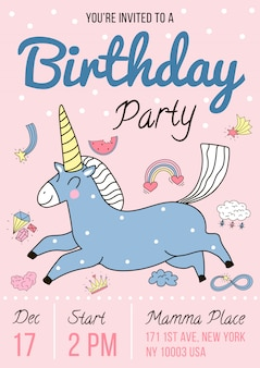 Invitation à une fête d'anniversaire