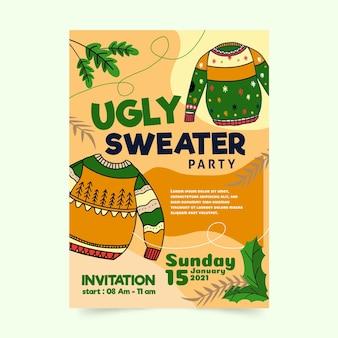 Invitation à une fête de chandail laid
