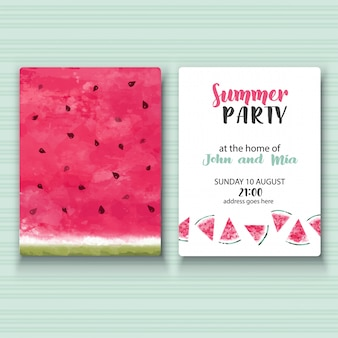 Invitation de fête d'été