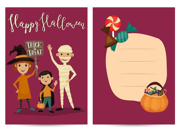 Invitation de fête d'halloween avec des enfants