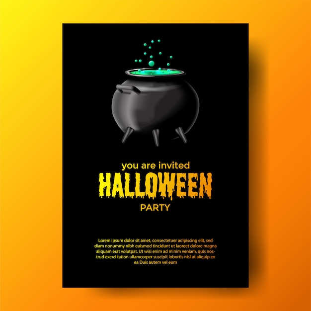 Invitation à la fête d'halloween