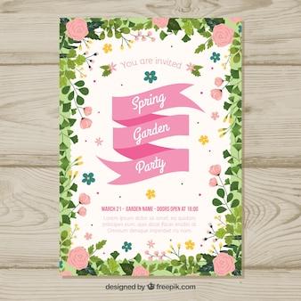 Invitation de fête de jardin de printemps