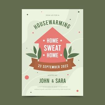 Invitation de fête de réchauffement de la maison