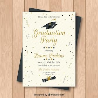 Invitation de fête de remise de diplôme créative