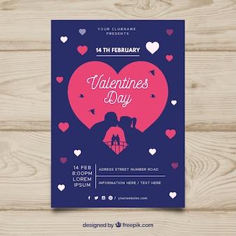 Invitation de fête de valentine