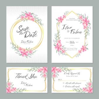 Invitation fleurs aquarelle