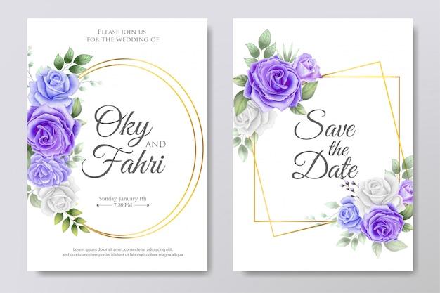 Invitation florale de mariage élégant