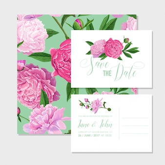 Invitation florale de mariage faites gagner la carte date