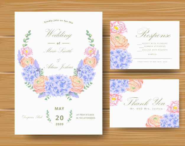 Invitation florale de mariage