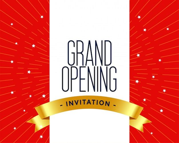 Invitation de grande ouverture