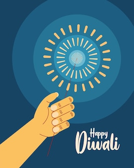 Invitation heureuse de célébration de diwali