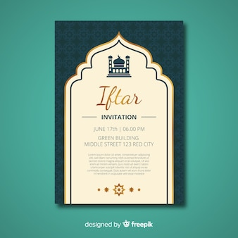 Invitation iftar plat