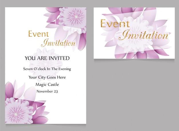 Invitation et invitation à l'événement