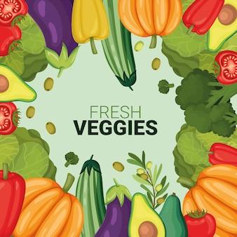 Invitation de légumes frais