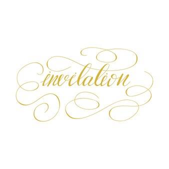 Invitation de lettrage. illustration vectorielle