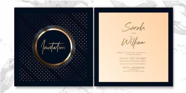 Invitation de luxe bleu foncé