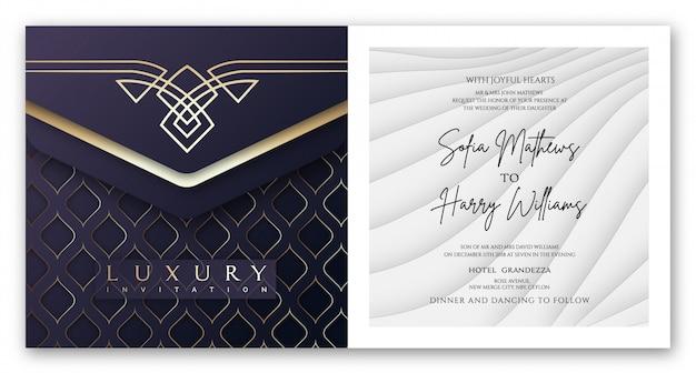 Invitation de luxe deep purple