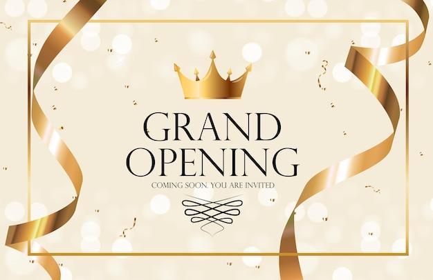 Invitation de luxe de grande ouverture