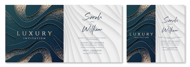 Invitation de luxe weding