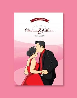 Invitation de mariage amour mignon