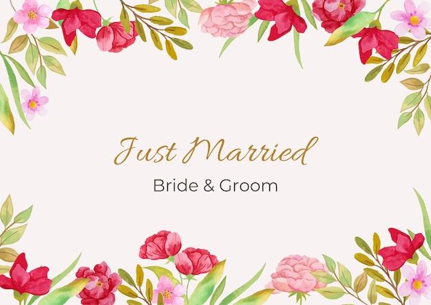 Invitation de mariage aquarelle illustration florale