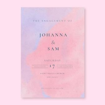 Invitation de mariage aquarelle rose